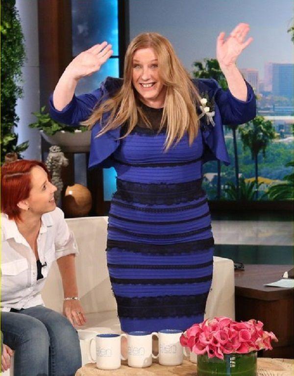 Объяснение платья синего