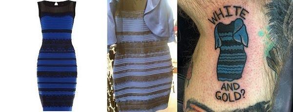 Платье меняющее сине золотое