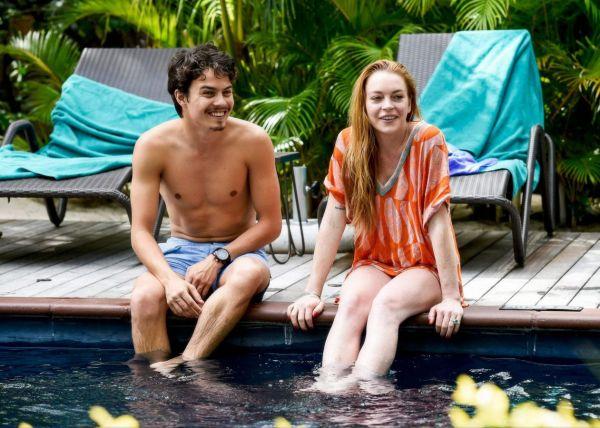 Линдси Лохан со своим возлюбленным на острове Маврикий