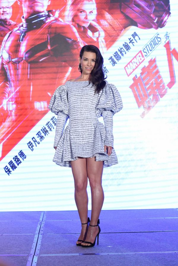 "Evangeline Lilly at the Press Confrence for ""Ant-Man and the Wasp"" in Taipei, Taiwan"