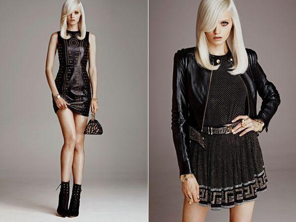 Одежда с шипами платье