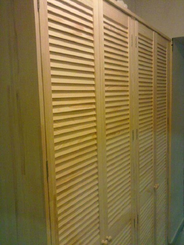 Сделать шкаф с жалюзийными дверцами