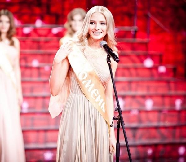 Алена Шишкова на конкурсе красоты Мисс-Россия 2012